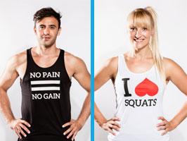 Fitness shirts met tekst