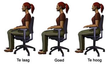 bureau-stoel-instellen
