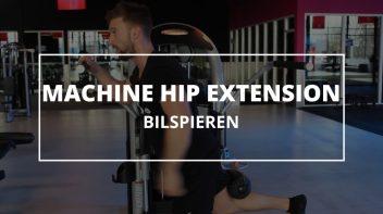 Machine hip extension