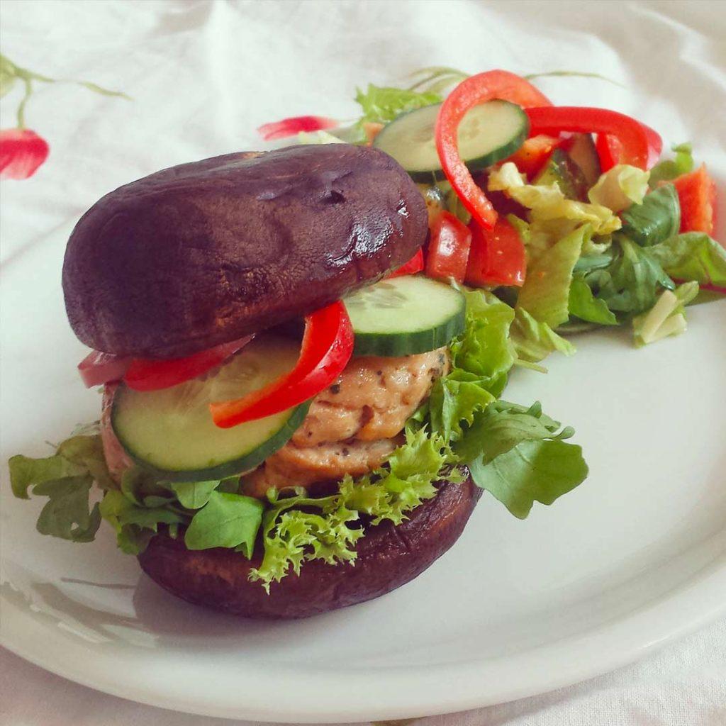 Gezonde portobello hamburgers