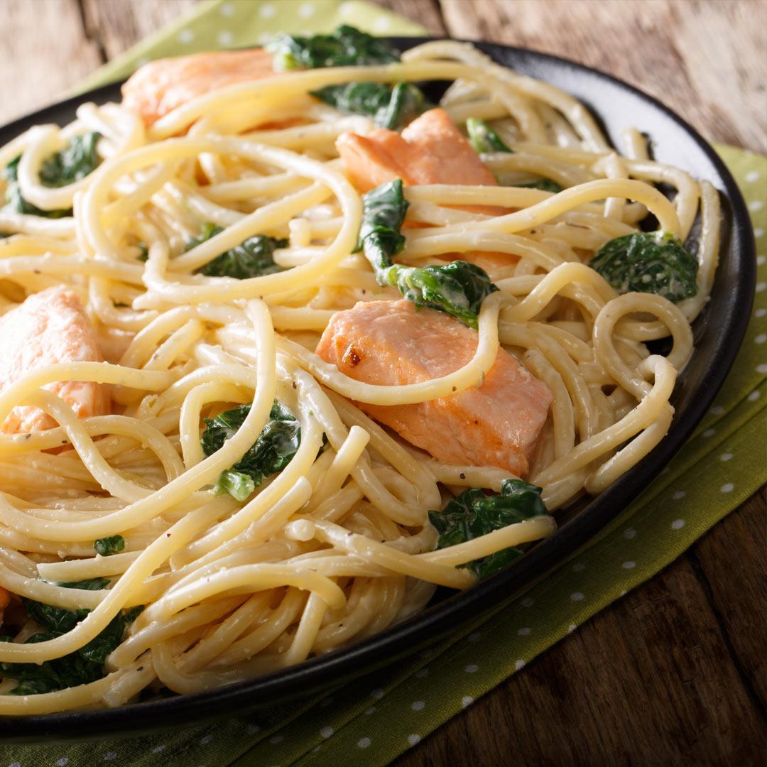 Pasta-met-zalm-recept