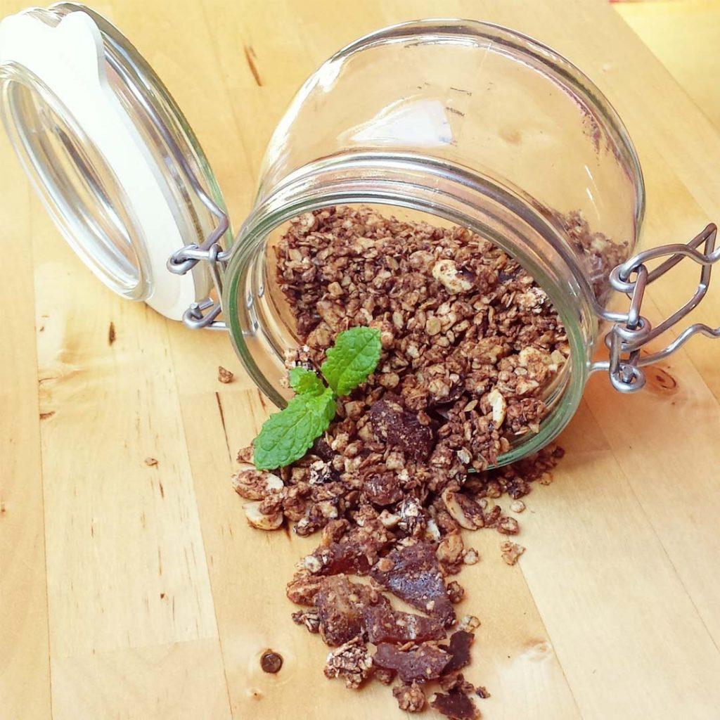Snicker chocolade granola