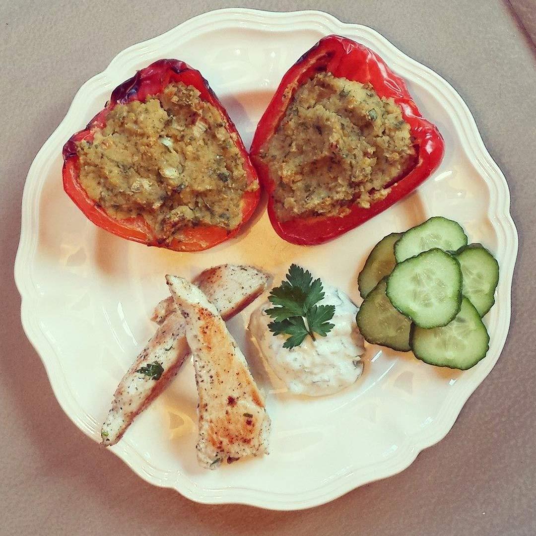 Gevulde-falafelpaprika