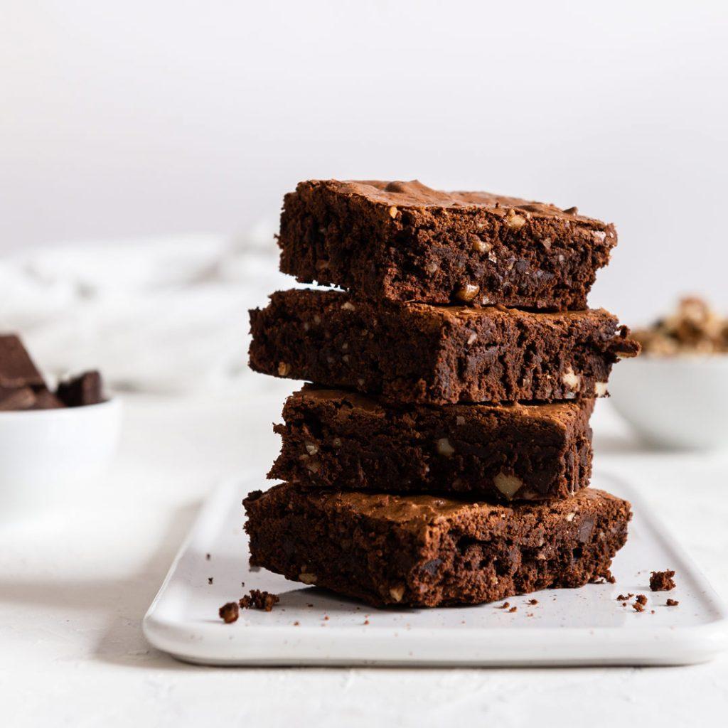Gezonde chocolade brownie