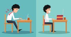 Wat is de perfecte bureaustoelhouding?