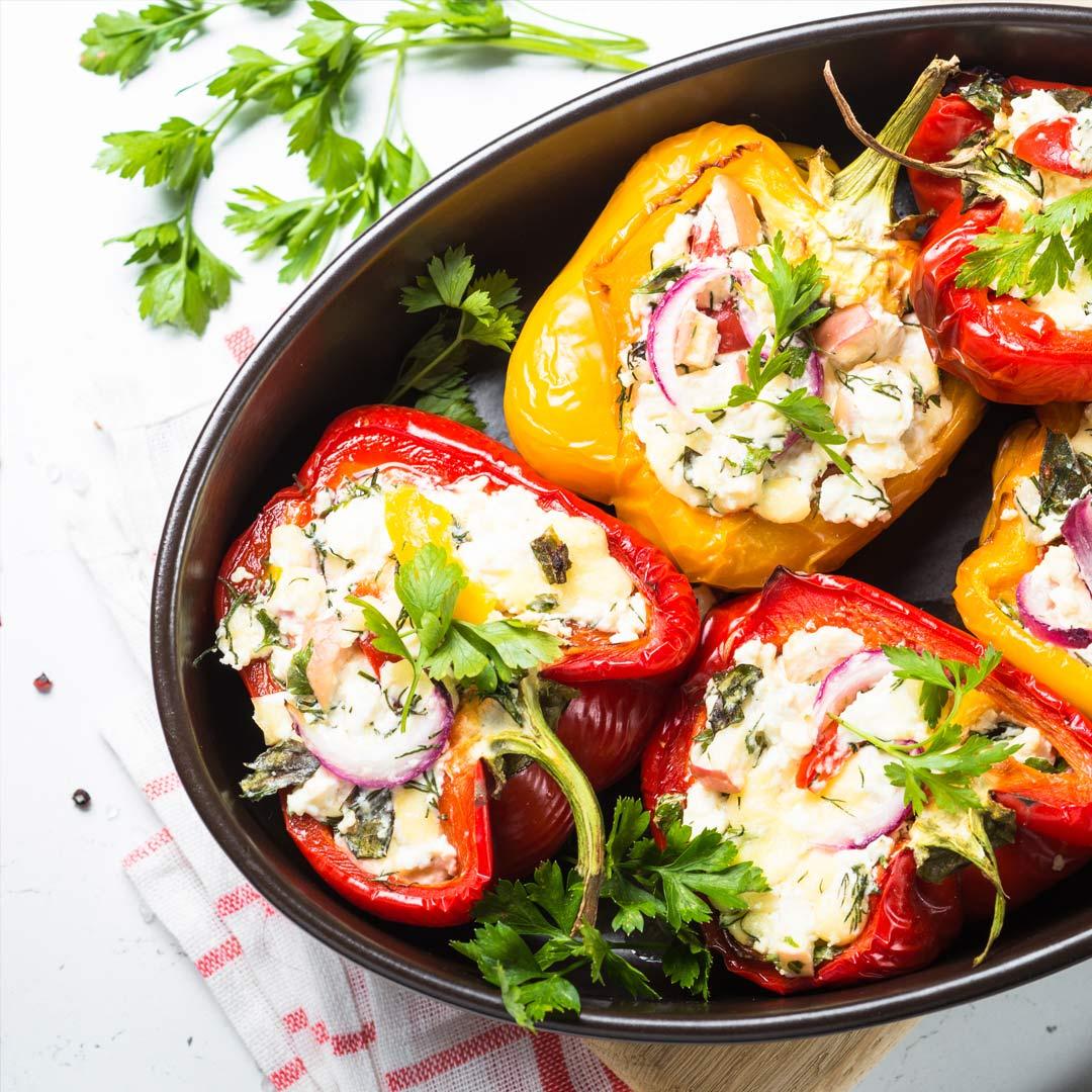 Gevulde-paprika's-met-prei-recept
