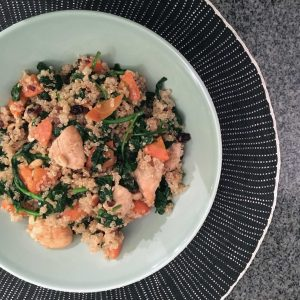 quinoa-met-spinazie-en-wortelen