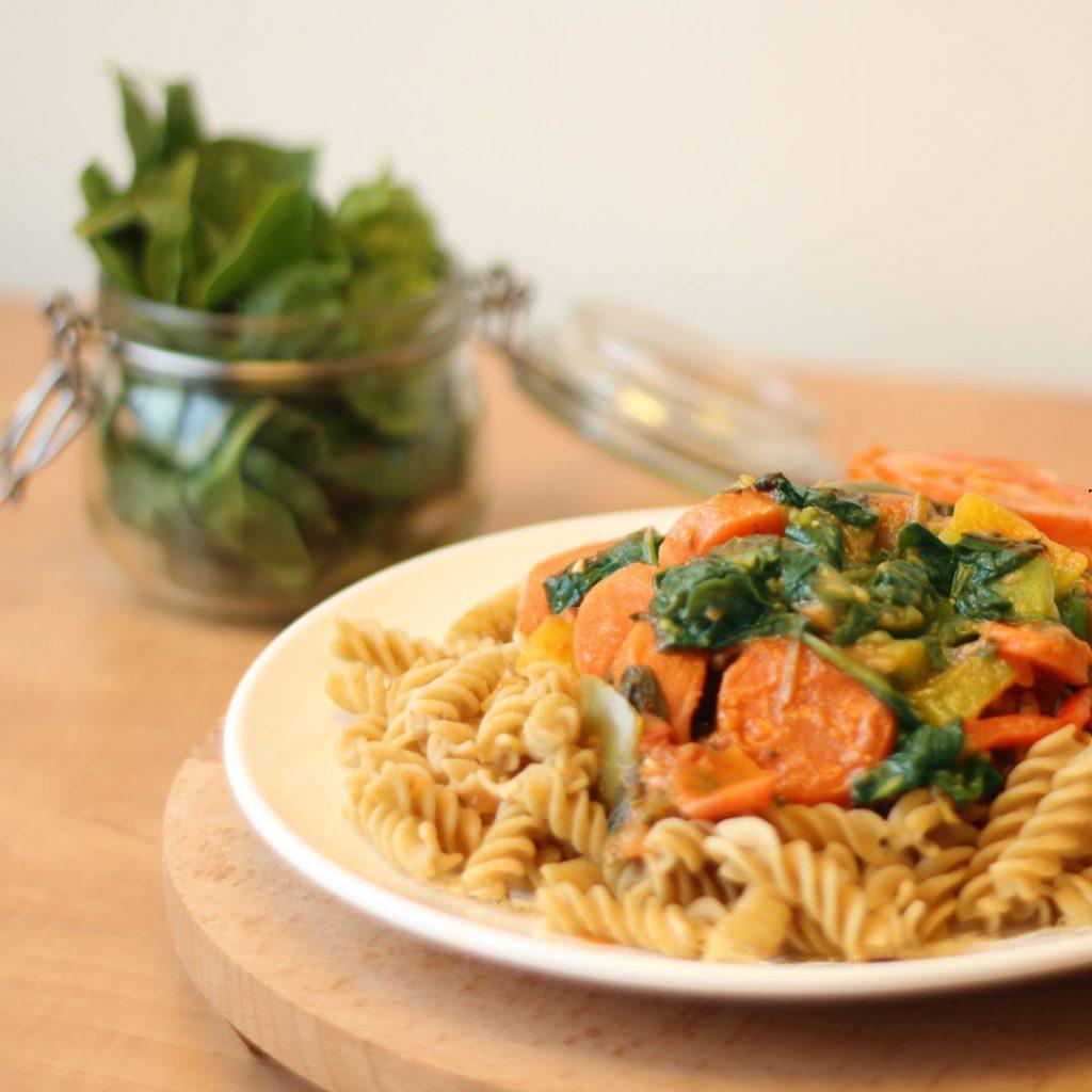 Groente pesto pasta