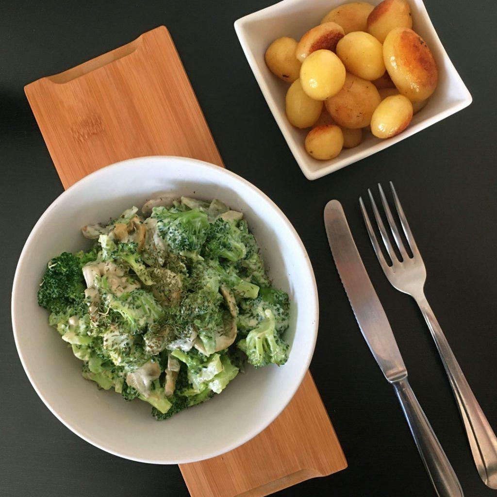 Broccoli met champignonragout