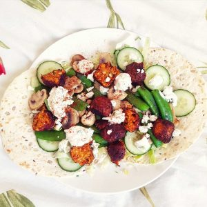 Vegetarische-spicy-falafel-wraps