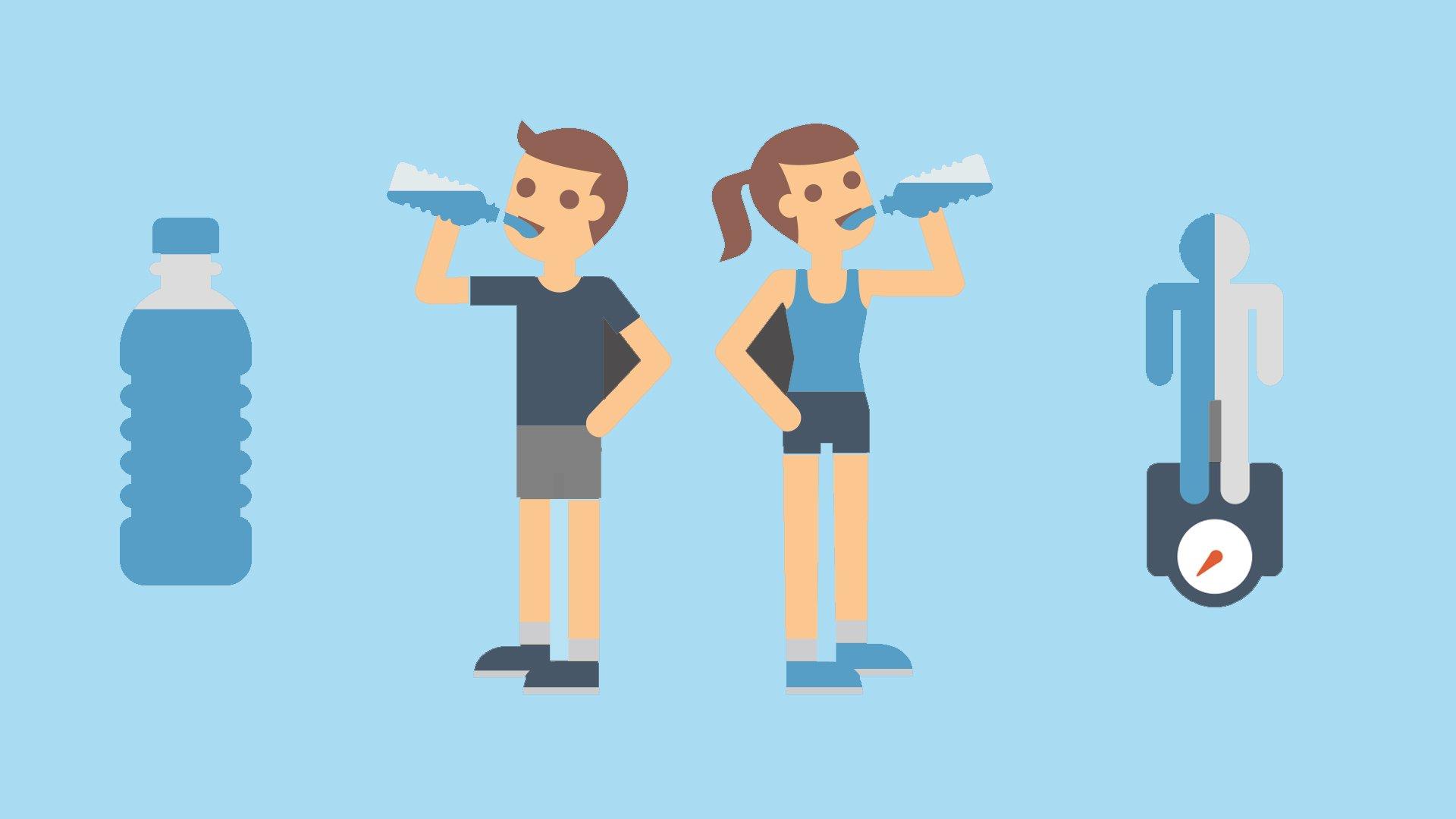 gewicht verliezen door water drinken
