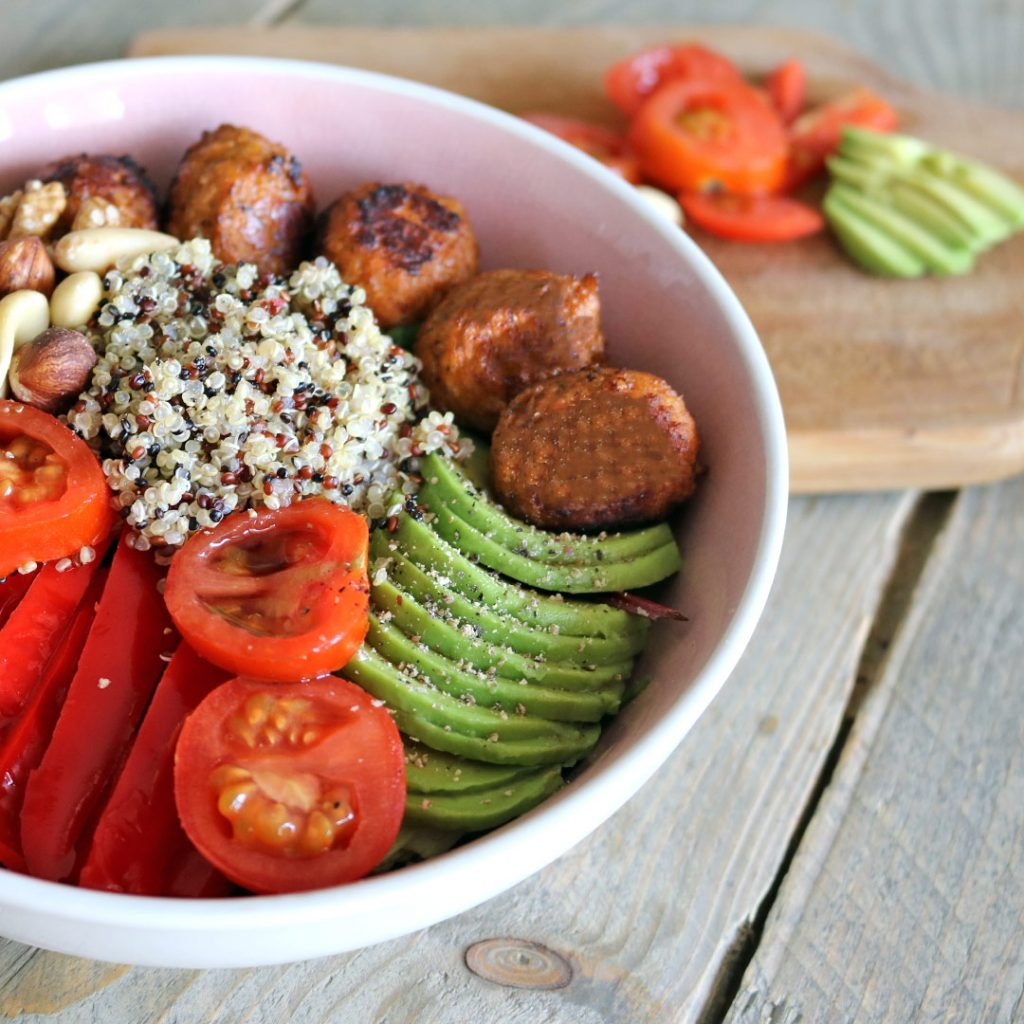 Quinoa vega salade