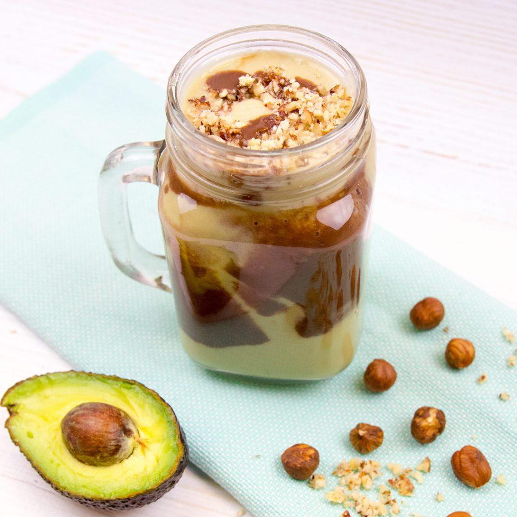 Vegan avocado choco shake