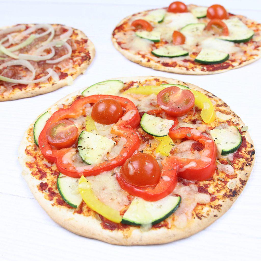 Tortillawrap pizza