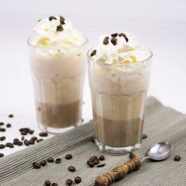 Salted caramel ice coffee