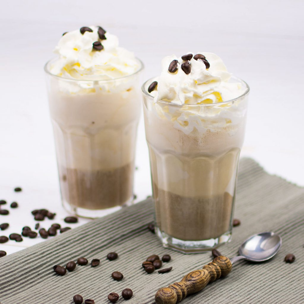 Salted caramel ice coffee