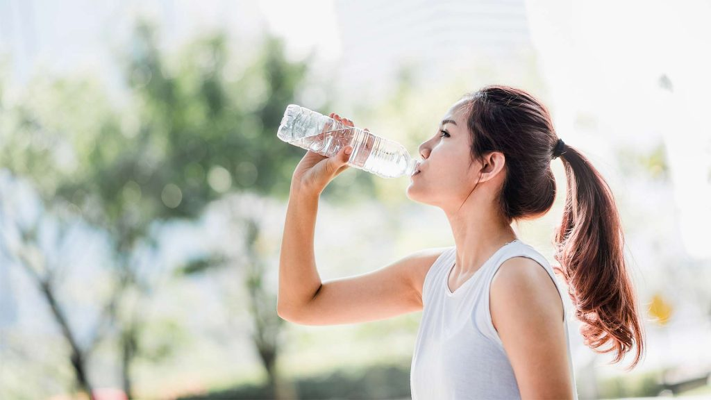 Water drinken zomer