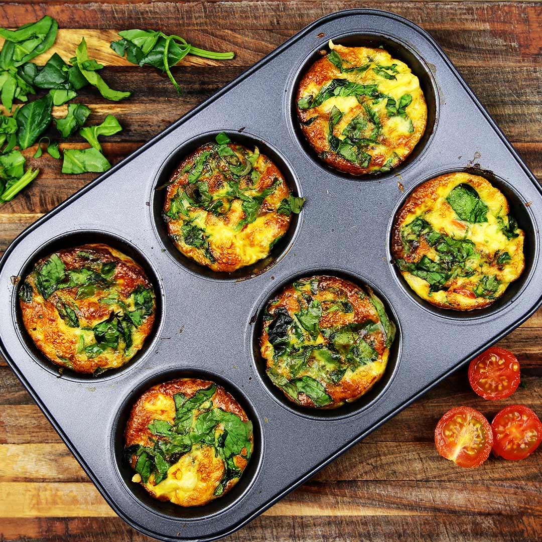 Hartige Ei muffins recept als gezonde hapjes