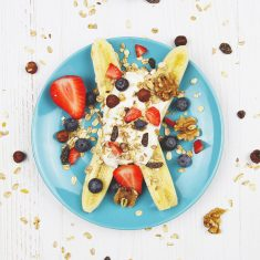 Bananensplit ontbijtje recept