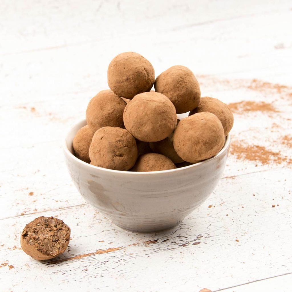 Chocolade proteïneballen