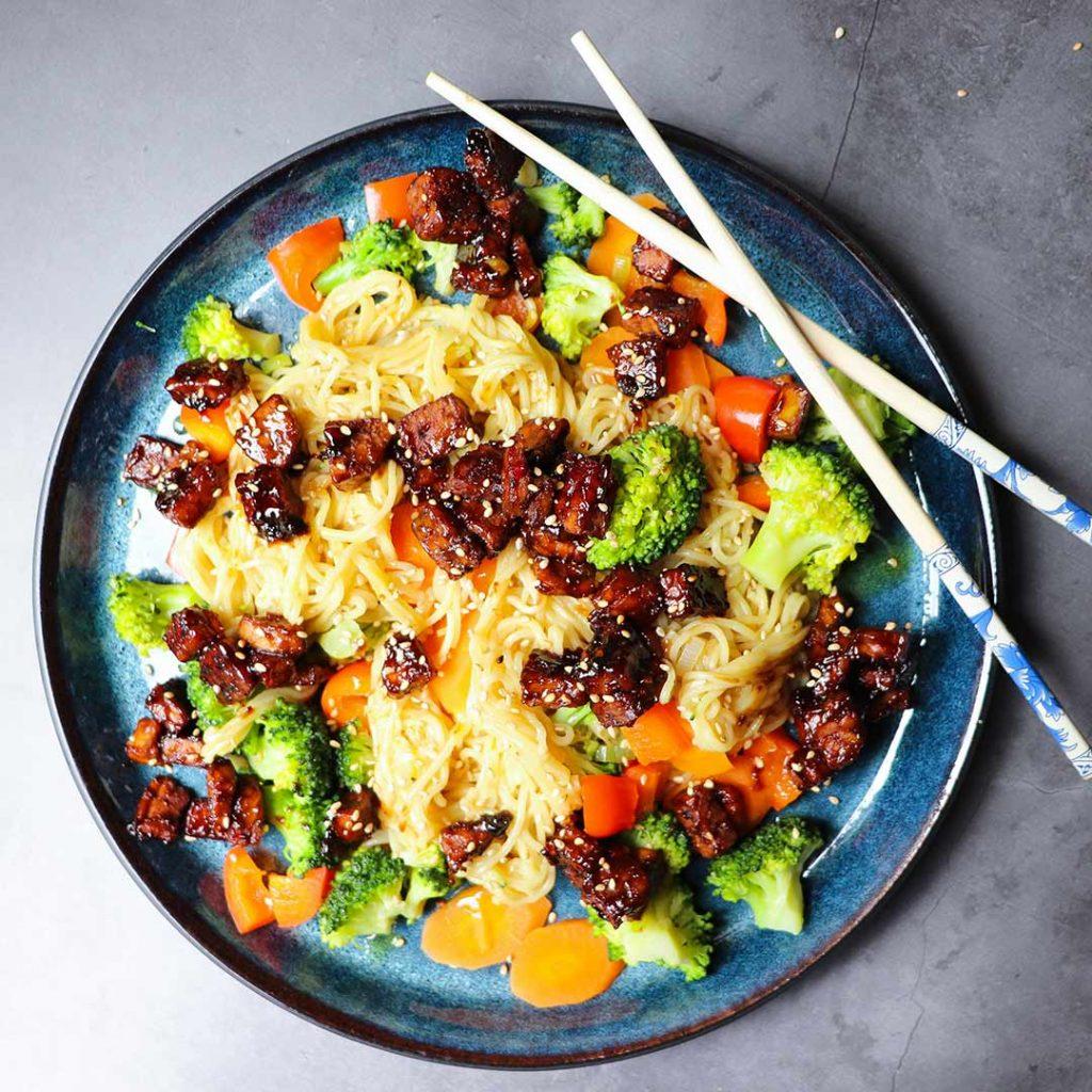 Veganistische wok