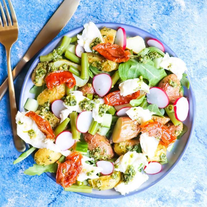 Italiaanse aardappel salade gezonde recepten
