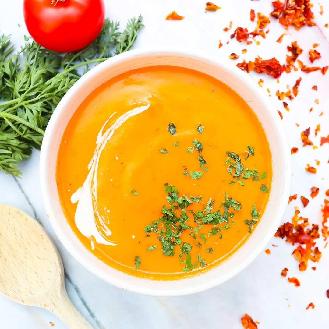 Vegan-Italiaanse-tomatensoep gezonde recepten