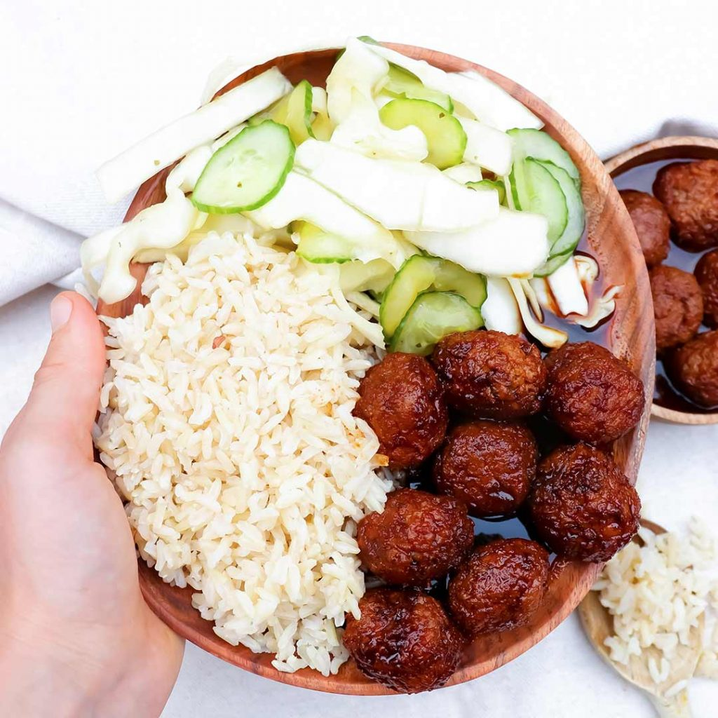 Vegan Indonesian meatballs