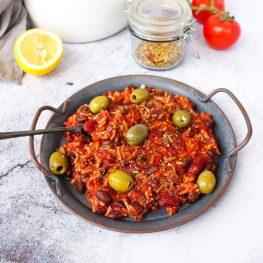 Spaanse bonen en rijst