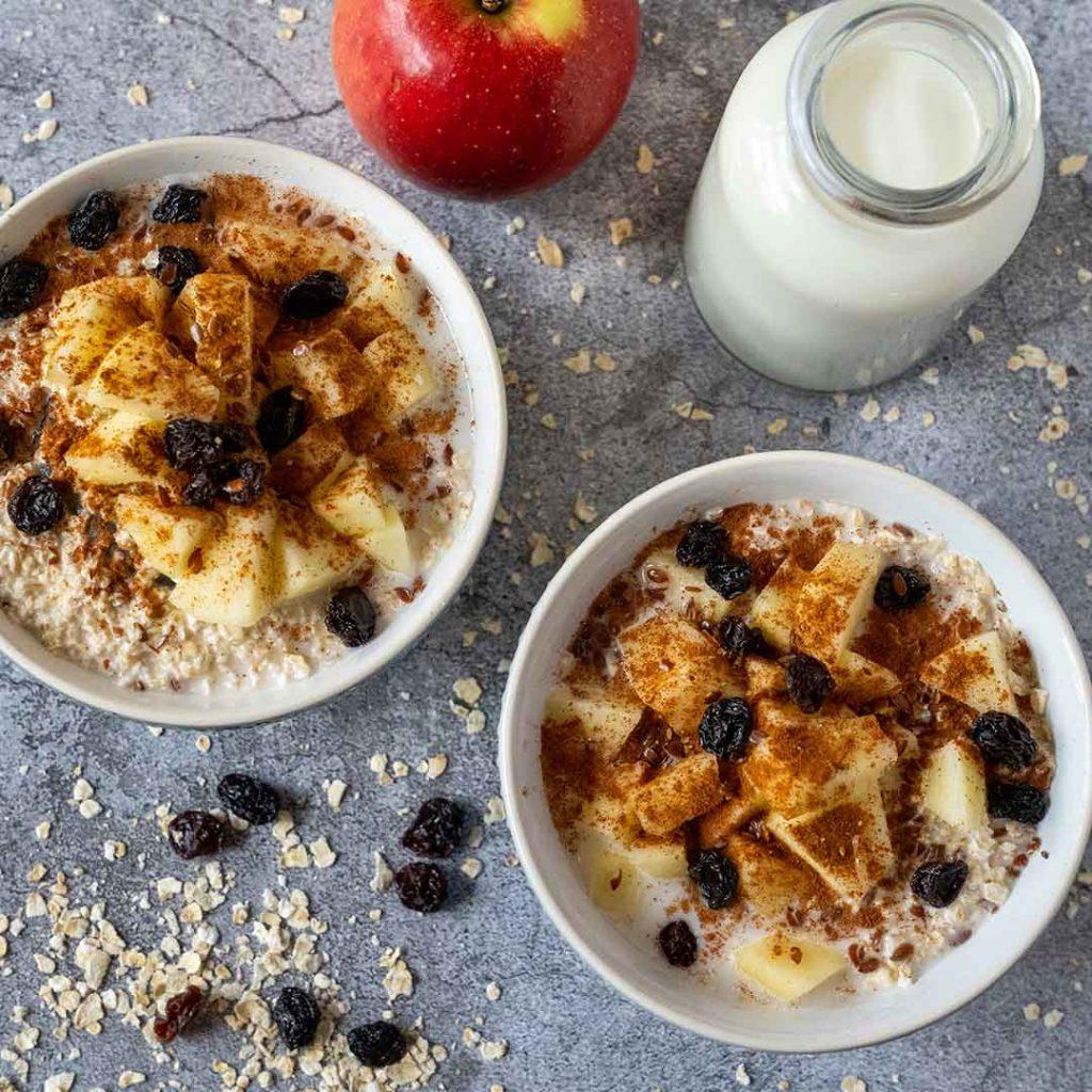 Havermout-appel-ontbijtje