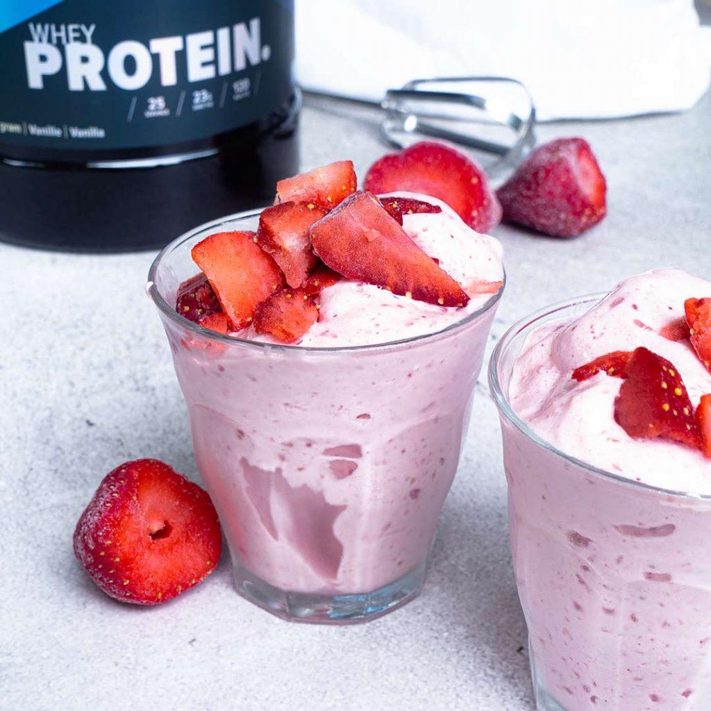 Protein fluff aardbei