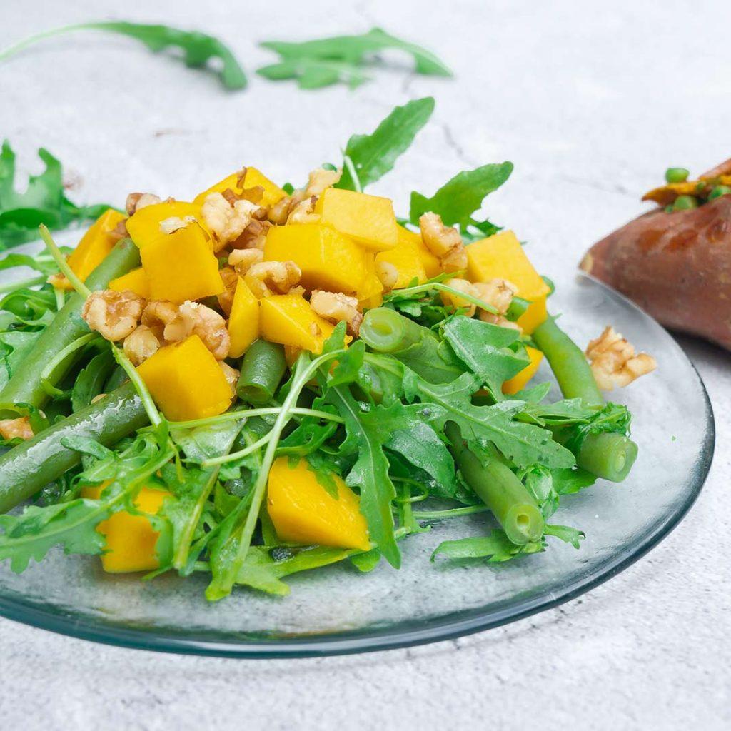 Mangosalade met boontjes